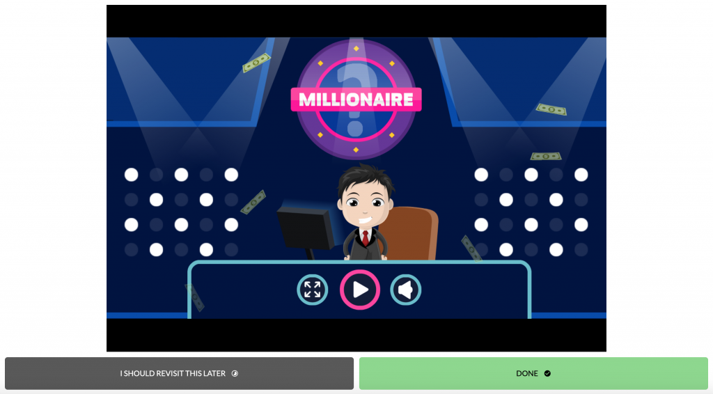 Millionaire Game in Edstep